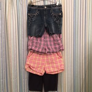 Other - 4 pairs Girls Shorts Size 7/8
